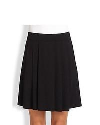 Eileen Fisher Pleated Knit Skirt Black