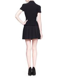 72cdf64181c6 ... Mini Skirts Alexander McQueen High Waist Pleated Skirt Black Alexander  McQueen High Waist Pleated Skirt Black