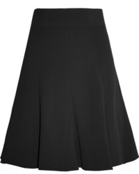 Pleated crepe mini skirt black medium 3776383