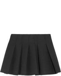 Pleated crepe mini skirt medium 136468