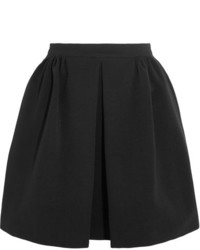 Pleated ribbed stretch jersey mini skirt black medium 5084046