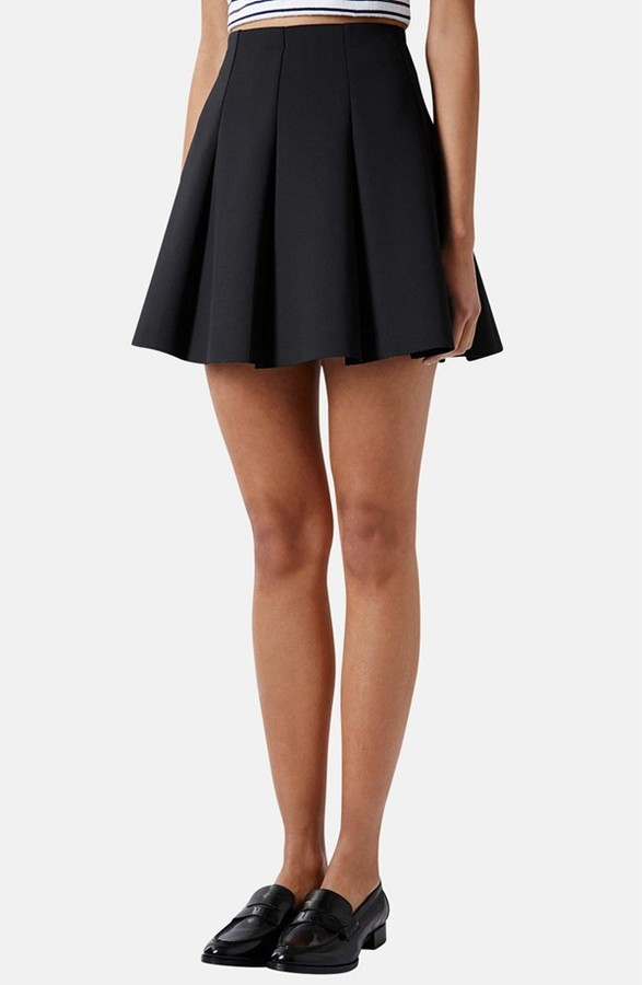 topshop pleated scuba skirt where to buy how to wear