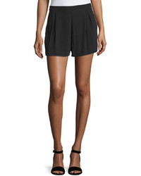 MinkPink Wishing Well Pleated Wide Leg Shorts Black