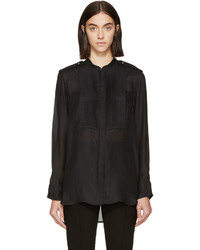 Isabel Marant Black Pleated Sophia Blouse