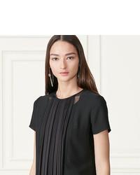 Ralph Lauren Louisa Pleated Front Silk Top
