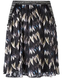 Diane von Furstenberg Printed Pleated Skirt