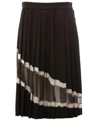 Maison Margiela Sheer Panel Pleated Skirt
