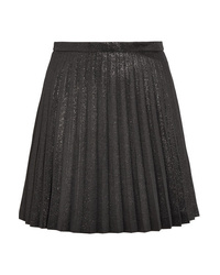 J.Crew Sweetbriar Pleated Cotton Blend Lam Mini Skirt