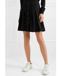 A.P.C. Atelier de Production et de Création Victoria Ruffled Pleated Crepe Mini Skirt
