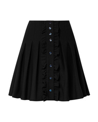 A.P.C. Atelier de Production et de Création Victoria Ruffled Pleated Crepe Mini Skirt