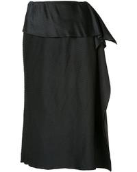 Issey Miyake Draped Detail Pleated Skirt