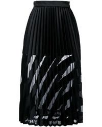 Off-White Midi Pleated Skirt