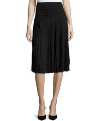 Joan Vass Pleated Knee Length Skirt