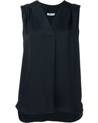 Vince Pleated Shoulder Tank
