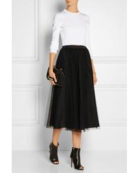 f687b27b6c ... RED Valentino Redvalentino Redvalentino Point Desprit Tulle Midi Skirt