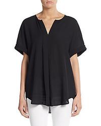 Max studio pleated blouse medium 362235