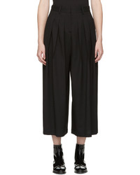 MCQ Alexander Ueen Black Pleated Wide Leg Trousers