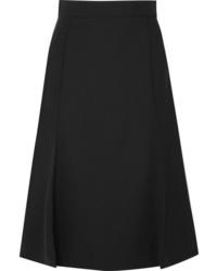 Chloé Pleated Stretch Wool Midi Skirt