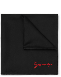 Givenchy Logo Embroidered Silk Pocket Square