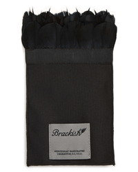 Brackish & Bell Obsidian Feather Pocket Square