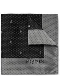 Alexander McQueen Silk Jacquard Pocket Square