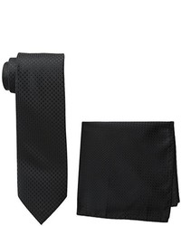 Steve Harvey Tall Extra Long Neat Solid Necktie And Neat Solid Pocket Square