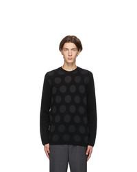 Comme des Garcons Homme Deux Black Polka Dot Sweater