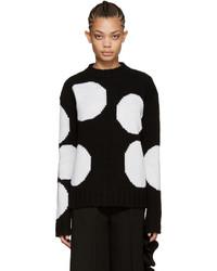 Black polka dot sweater medium 845319