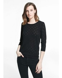 Polka dot pattern sweater medium 391433
