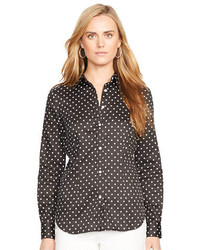 Lauren Ralph Lauren Slim Fit Polka Dot Dress Shirt