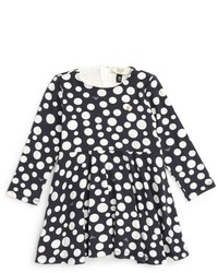 Armani Junior Infant Girls Polka Dot Jersey Dress