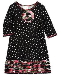 Pink Vanilla Dot Print A Line Dress
