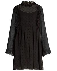 See by Chloe See By Chlo Polka Dot Flocked Georgette Dress