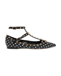 Valentino Garavani The Polka Dot Leather Point Toe Flats