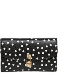 Dolce polka dot dauphine leather clutch medium 3706002