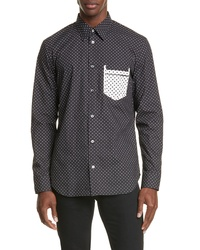 Maison Margiela Micro Polka Dot Button Up Shirt