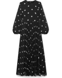Zimmermann Sunray Pleated Polka Dot Tte Maxi Dress