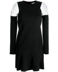 RED Valentino Dotted Mesh Shoulder Dress