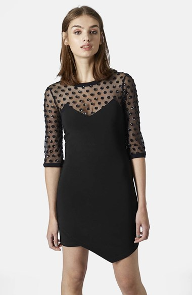 Topshop Mesh Body Con Dress | Where to buy & how to wear