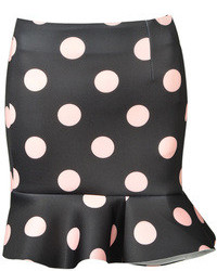Choies Black Polka Dot Vintage Skirt