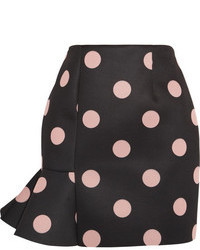 Finds Vivetta Eva Polka Dot Neoprene Mini Skirt