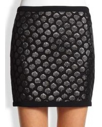 Moschino Cheap & Chic Moschino Cheap And Chic Polka Dot Cloqu Skirt