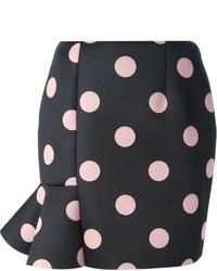 Vivetta Frill Detail Polka Dot Skirt