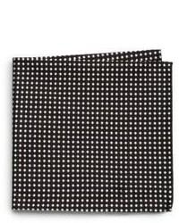Armani Collezioni Polka Dot Print Silk Pocket Square