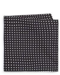 Polka dot silk pocket square gift box medium 653740