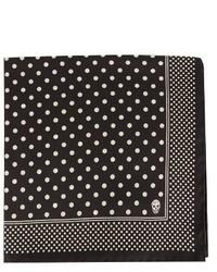 Alexander McQueen Polka Dot Silk Twill Pocket Square