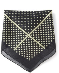 Saint Laurent Polka Dot Pocket Square