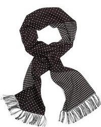 Brooks Brothers Silk Polka Dot Formal Scarf