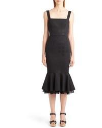 Dolce & Gabbana Dolcegabbana Polka Dot Flounce Hem Dress