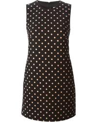 Red valentino polka dot shift dress medium 198736